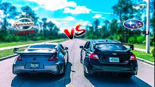 Ultimate Battle 370z Vs 2019 Subaru WRX STi | 0-60 | REV Battle | Race | Danny Z