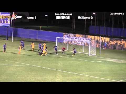 20140913 NCAA Mens Soccer   CSU Bakersfield V UC Davis Highlights