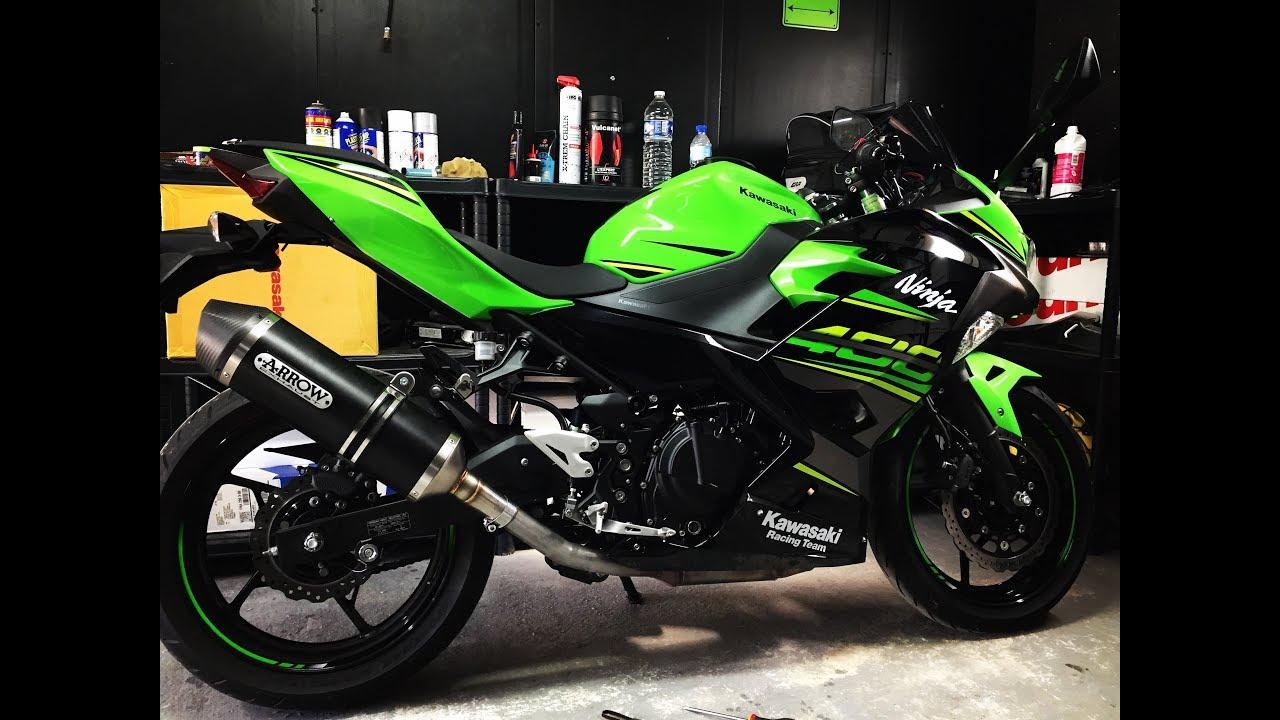 Kawasaki Ninja 400 Arrow Race Tech exhaust installation Free
