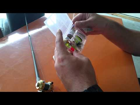 Mini Pocket Fishing Pole and Micro Lures