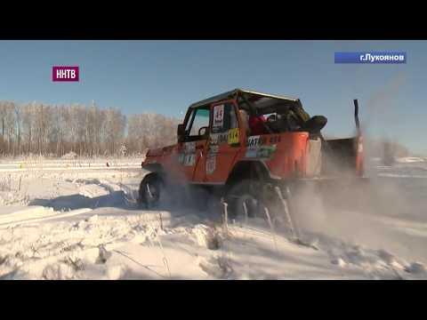 Традиционные гонки на внедорожниках в Лукоянове, приуроченные к 100-летию Красной армии