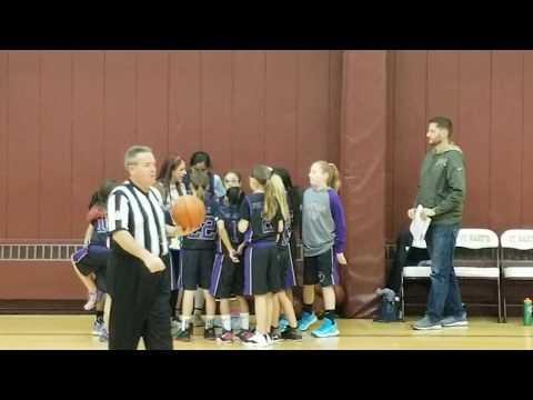 2019-12-20 Girls Monroe Falcons (4-5th Gr, Coach Jamie Costa Rowe) Vs St Barts