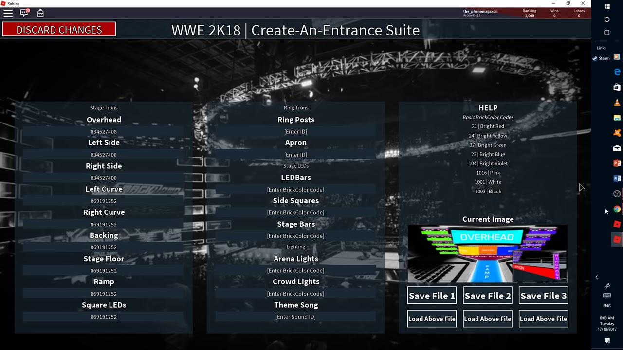 How To Make A Wwe Ro Wrestling Tron On Wwe 2k18 Open Beta Youtube