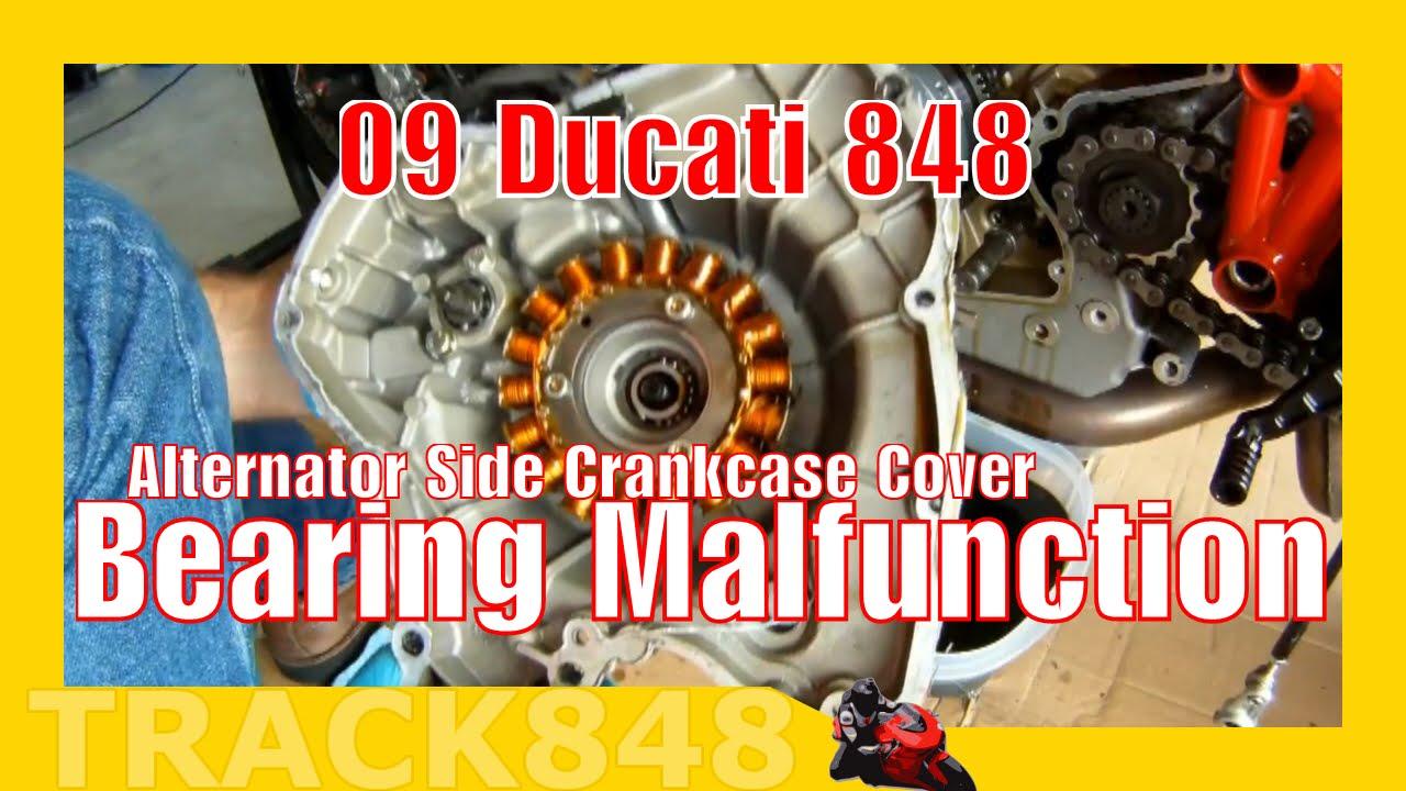 Ducati 848 Alternator Side Crankcase Cover Bearing Malfunction Youtube 800ss Wiring Diagram