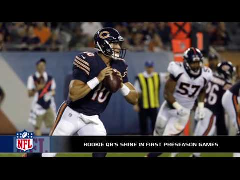 Mitch Trubisky shines in his Bears debut