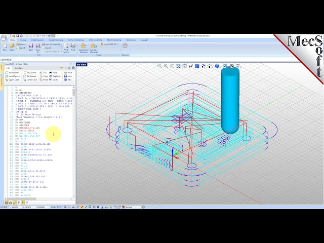VisualCAD/CAM 2021: G-CODE Editor Quick Start
