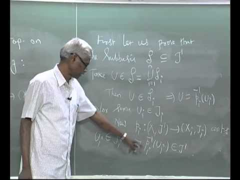 Product Topology - Chapter2videoLec-6