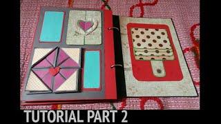 Valentine/Birthday/anniversary Scrapbook || Tutorial Part 2 ||  Crafts and Crunch
