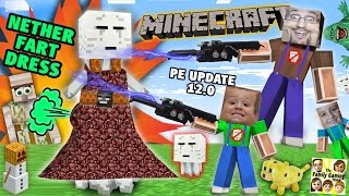 Search 4 Nether Fart Dress!  Minecraft PE Surprise 4 Mike (FGTEEV Dad & Kids Lets Play 0.12 Update) thumbnail