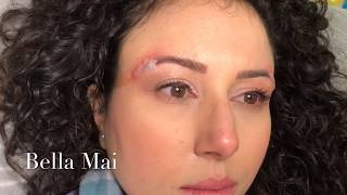 Salt and Saline Permanent Makeup / Eyebrow Tattoo Removal