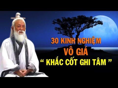 30 Kinh nghiệm vô giá bạn nên khắc cốt ghi tâm - Thiền Đạo