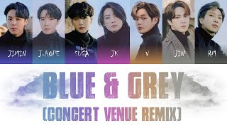 BTS (방탄소년단) - Blue  Grey (Concert Venue Remix) Color Coded Lyrics