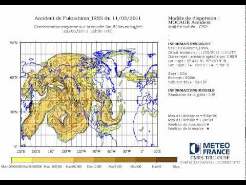 IRSN - METEO - Estimarea dispersiei substantelor radioactive