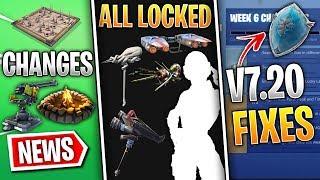 Fortnite News: Remaining LOCKED Skins, Big v7.20 Changes, Frozen Shield, Week 6 Challenges & More!