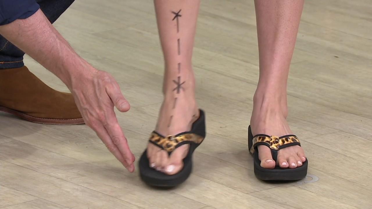 0ce2ffdefee4 Vionic Orthotic Platform Leather Sandals - High Tide on QVC - YouTube