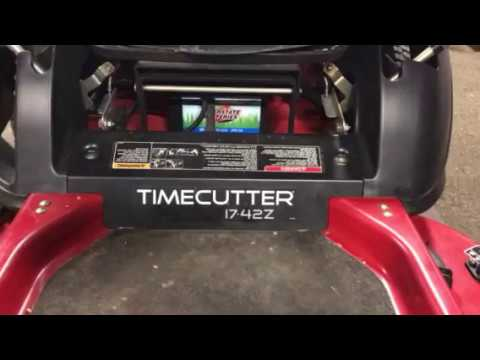How to adjust steering on a Toro Timecutter 1742