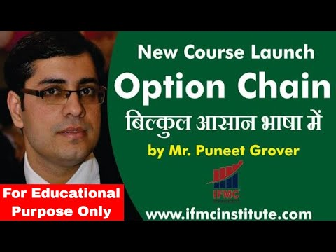 Option Chain A Must Do Course For Options Trading ll IFMC Institute ll
