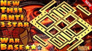 Clash Of Clans | New Th11 Anti 3 Star War Base | Anti Electro Dragon | 2019 CWL Base War Base