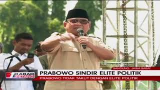 """Sindiran Keras Prabowo untuk Elite Politik Jakarta: """"Emang Gue Takut Sama Lu!"""""""