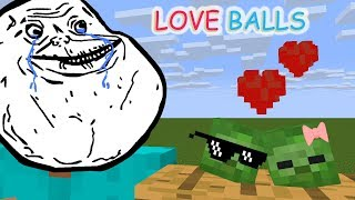 Monster School: LOVE BALL CHALLENGE - Minecraft Animation