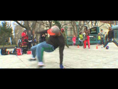 These Break Dancers Are Happy By City Hall In Manhattan