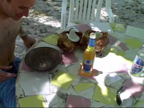 TCO Fly Shop - How to crack coconuts in the Bahamas!