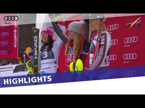 Mikaela Shiffrin clinches 5th Slalom Crystal Globe in Ofterschwang | Highlights