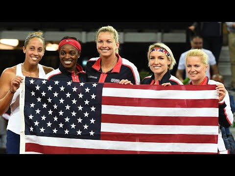 2018 Fed Cup (World Group) Semifinal - USA vs. France   WTA Multifan