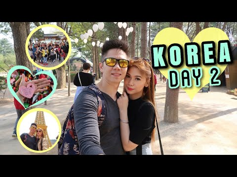 VLOG#8: KOREA DAY 2 | NAMI ISLAND + PETIT FRANCE + LOVE LOCK | My Quick SKIN CARE Routine ♥️