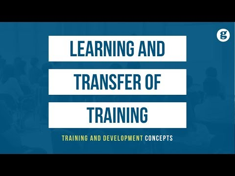 Learning And Transfer Of Training