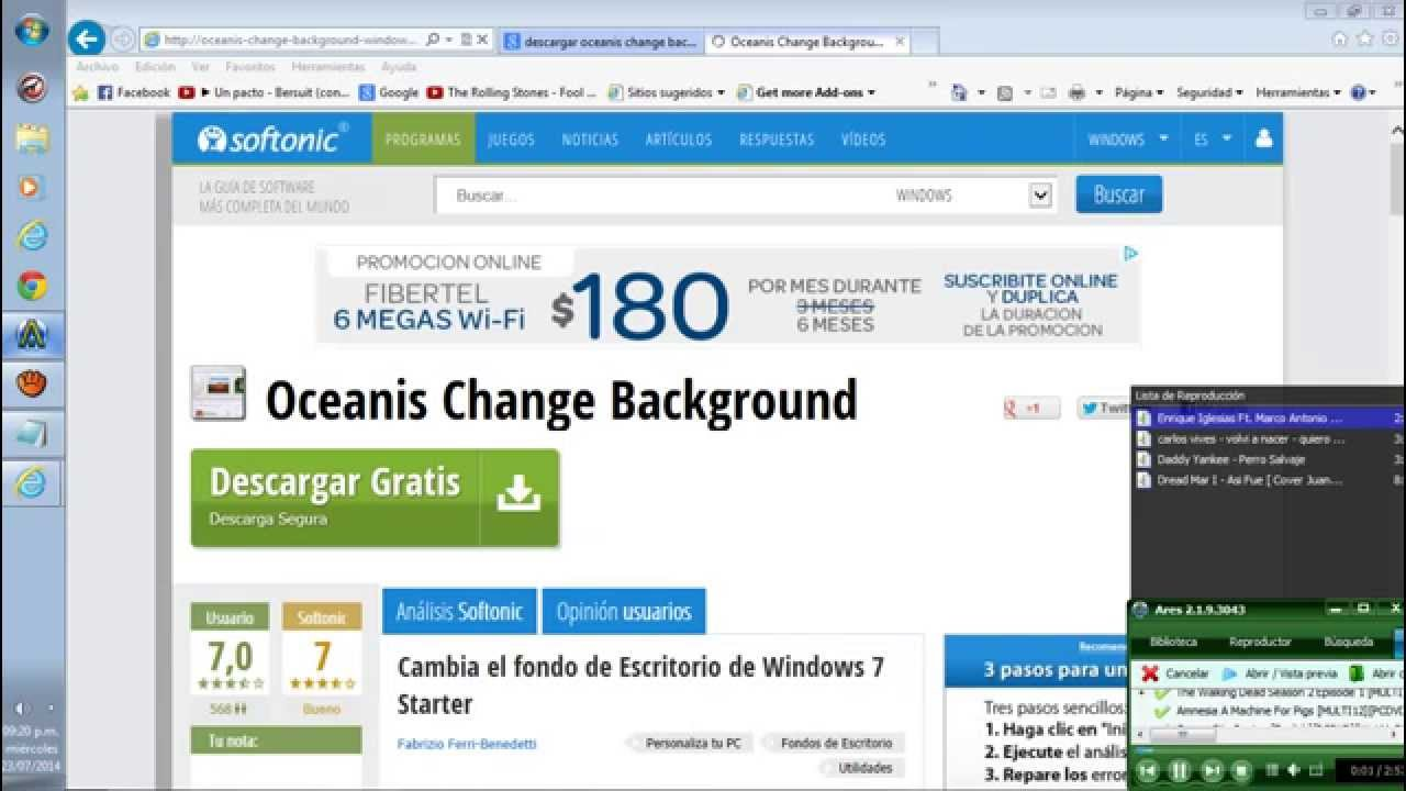 PROGRAMA OCEANIS BACKGROUND O BAIXAR CHANGE