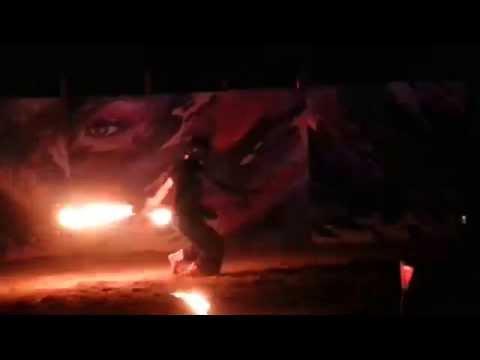 Rainbow Serpent 2015 - Kiwamu Miyakubo - fire chain staff