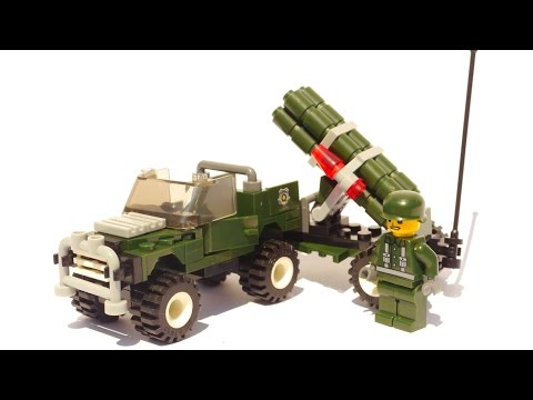 JIE STAR Army 23009 - Mini Multiple Rocket Launcher Vehicle