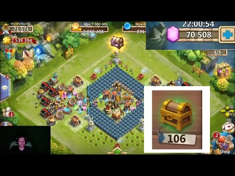 Rolling 70,000 FREE 2 PLAY Gems OVER 100 Fortress Chests Castle Clash