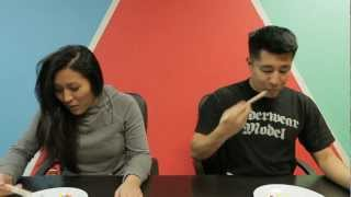 M&M's Chopstick Challenge Joe Jo vs Olivia Thai