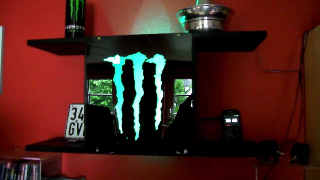 Selfmade Monster Energy Shelf With Decoration Lamp Youtube