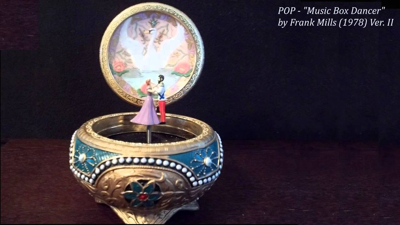 Jewelry Box With Music Box Dancer Vintage swiss reuge dancing