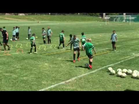 Training at Sporting CP Academy Johannesburg South Africa