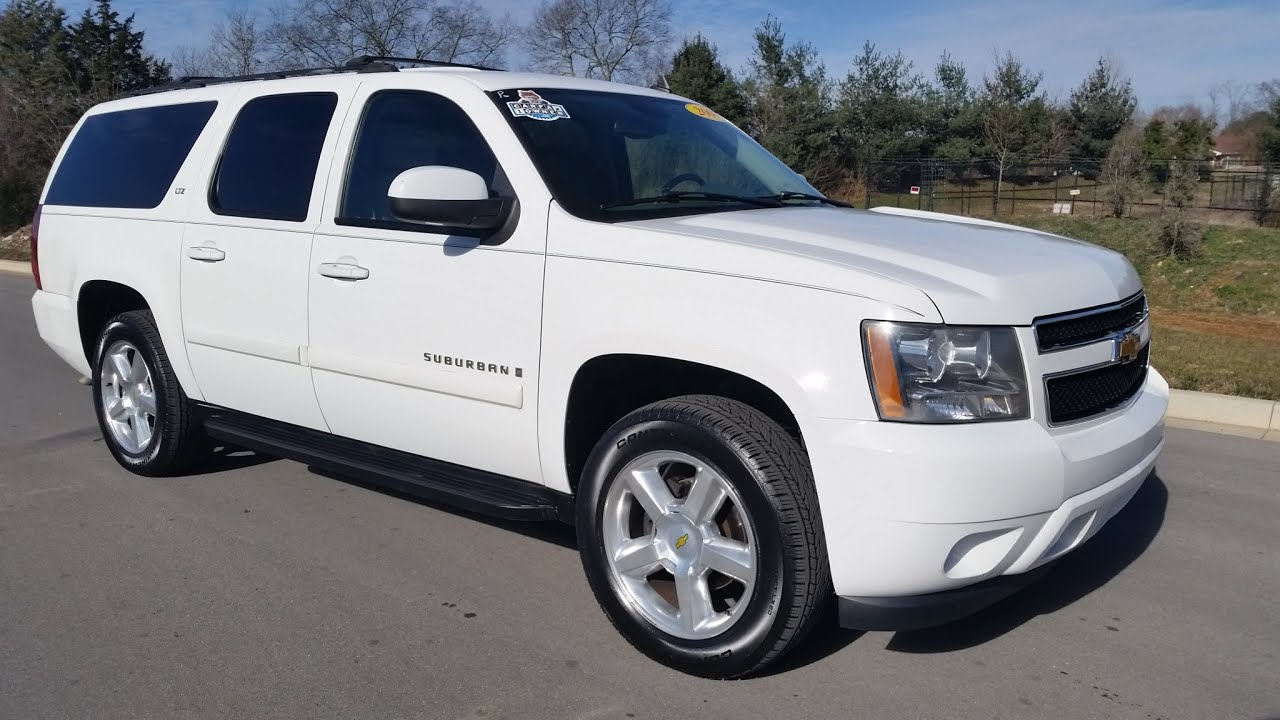 chevrolet suburban ltz 4x4 summit white 1 owner 173k for sale call 855 507 8520 youtube. Black Bedroom Furniture Sets. Home Design Ideas
