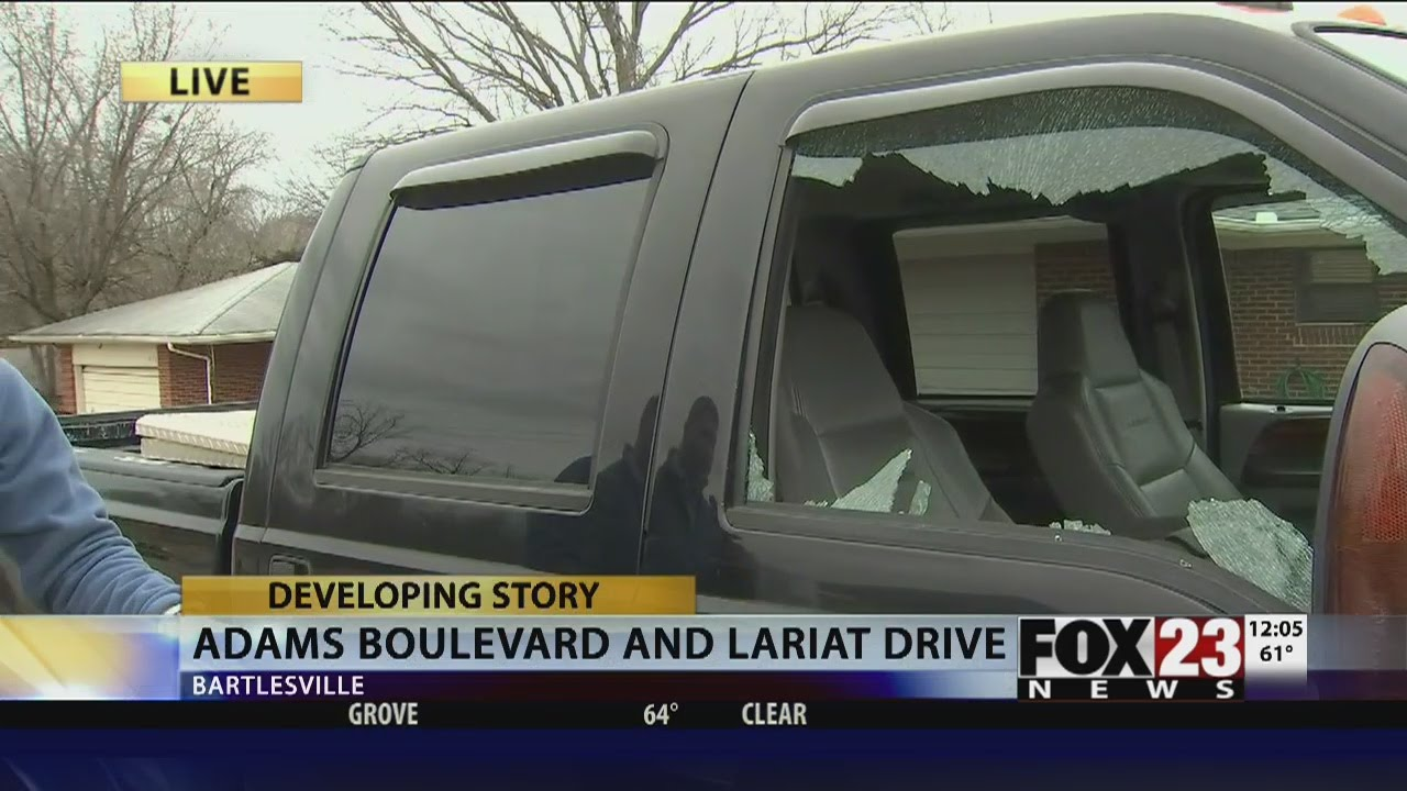 Bartlesville police investigate vandals shooting out windows