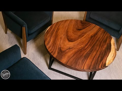 Live Edge Wood Slab Coffee Table | ONE DAY WOODWORKING PROJECT