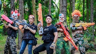 NERF WAR : Warriors SWAT Nerf Guns Fight Attack Criminal Group Mask Mafia Mission Impossible