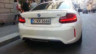 BMW M2 START UP VERY LOUD SOUND ACCELERATION IN MILAN