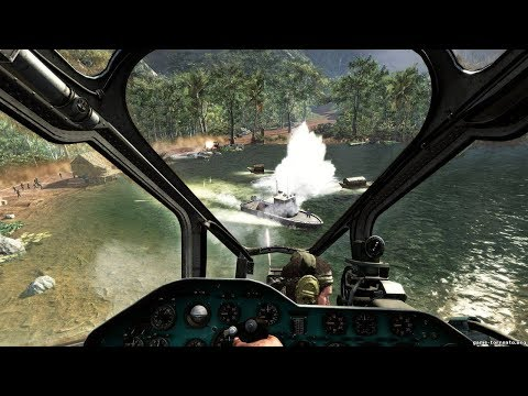 Very Epic Chopper Mission from FPS Game Call of Duty Black Ops