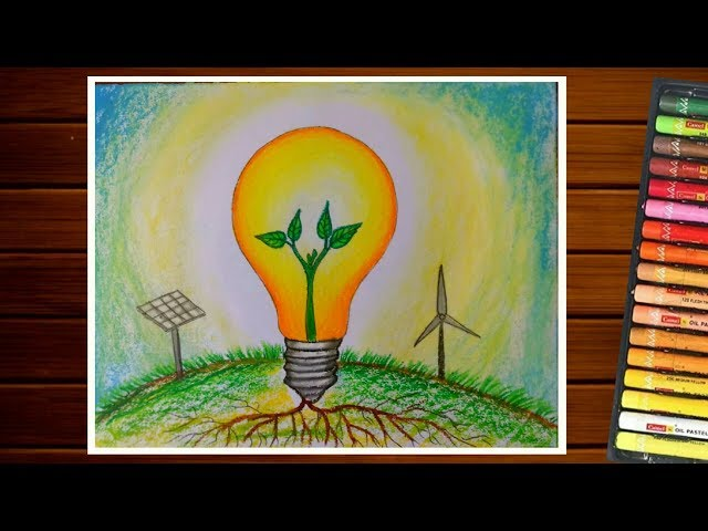 SAVE ENERGY DRAWING||SAVE ELECTRICITY ||URJA BACHAO DRAWING