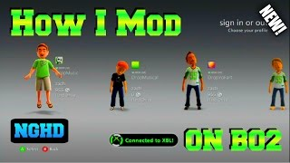 HOW I MOD BLACK OPS 2 ON XBOX 360! (RGH XBOX MOD ROUTINE!)