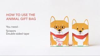 動物包裝紙袋影片教學 Animal Gift Bag    GOTOME