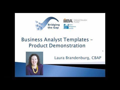 BA Templates - Bridging the Gap  Product Demonstration