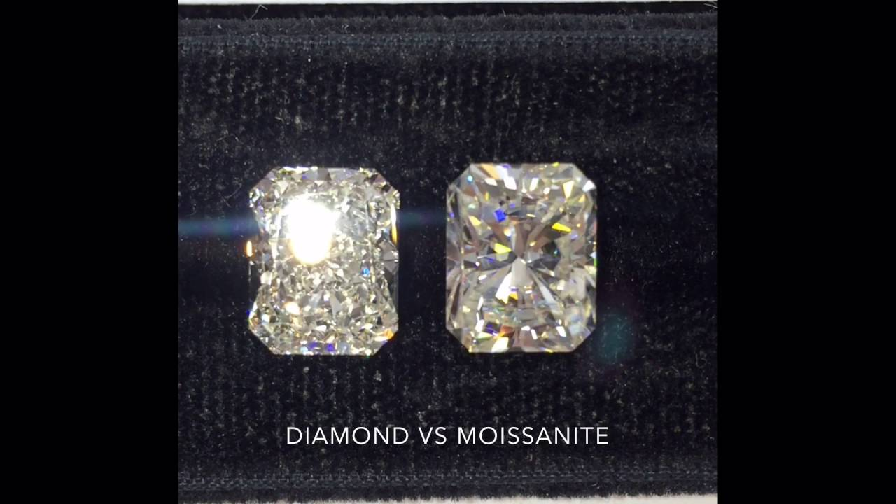 how to tell moissanite from diamond