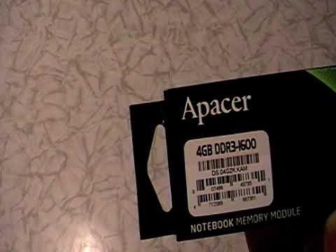 Оперативная память Apacer SODIMM DDR3-1600 4096MB PC3-12800 (DS.04G2K.KAM)